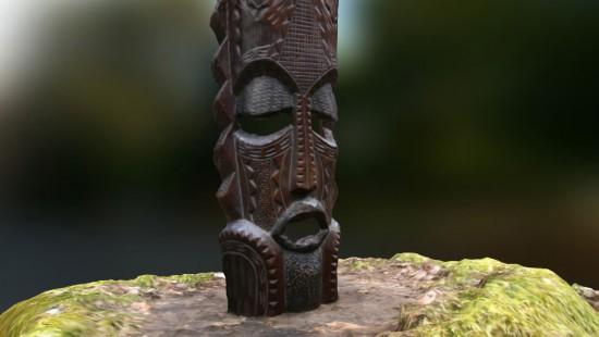Photogrammetrie - Afrikanische Maske