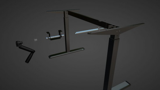 Interaktive Montageanleitung - verstellbarer Tisch