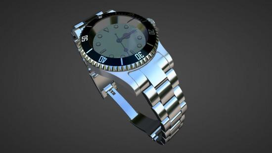 Simulation - Konfigurator - Uhr in verschiedenen Variationen